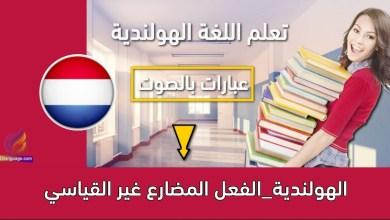 الهولندية_الفعل المضارع غير القياسي