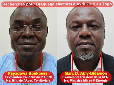 Payadowa Boukpessi et Marc Déridèwè Ably Bidamon | Infog : 27avril.com