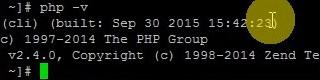 default php version