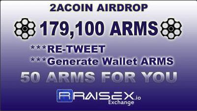 2ACoin ARMS AirDrop