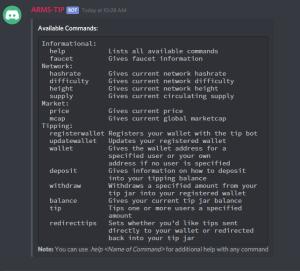 ARMSBot Help