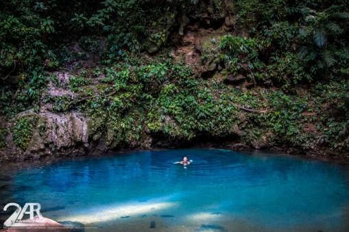 Blaues Loch - dieses kleine aber feine Loch mit strahlend Blauem Wasser ist ne tolle Abkühlung