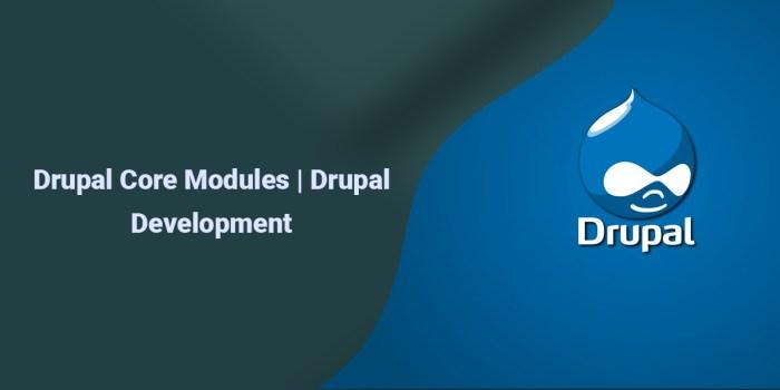 Drupal Core Modules | Drupal Development