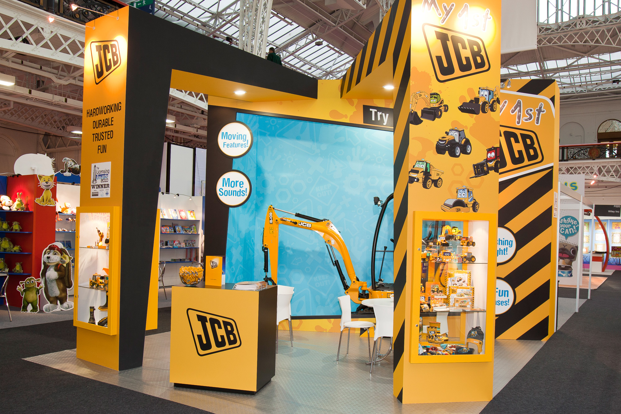 Exhibition design for JCB at Brand Licensing