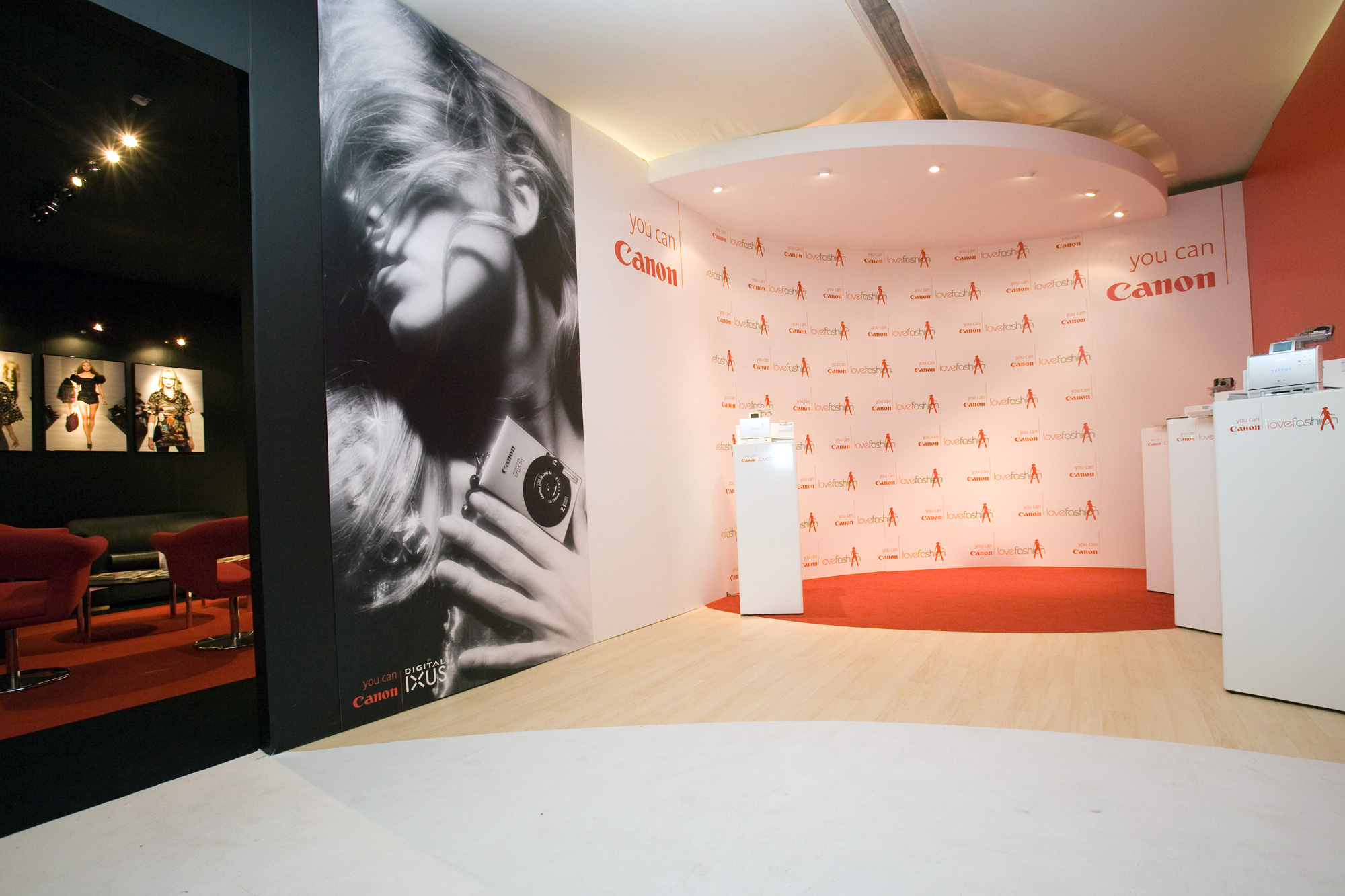 Event design for Canon at London Fashion Week