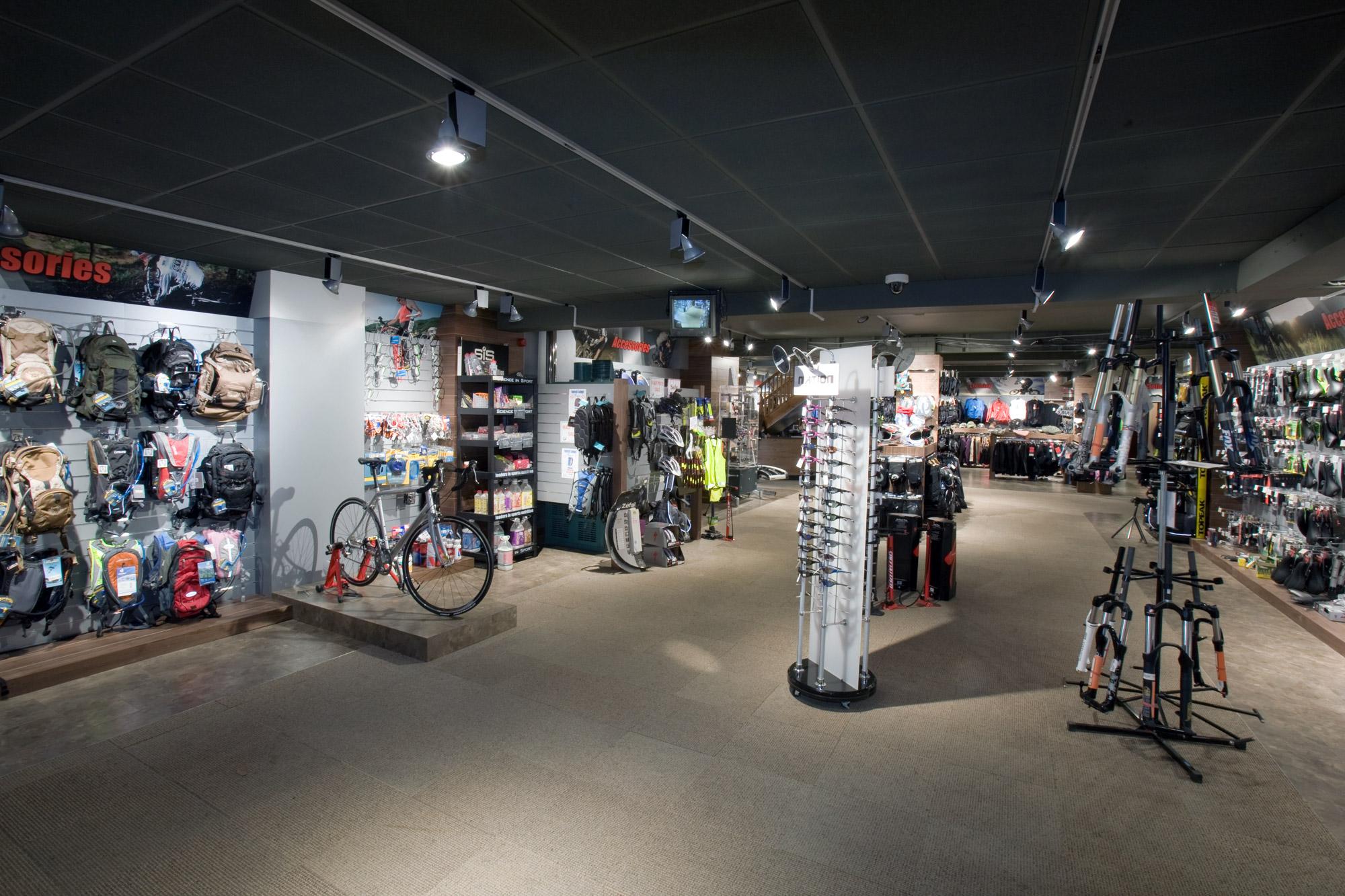 Rutland Cycle Centre shop interior design