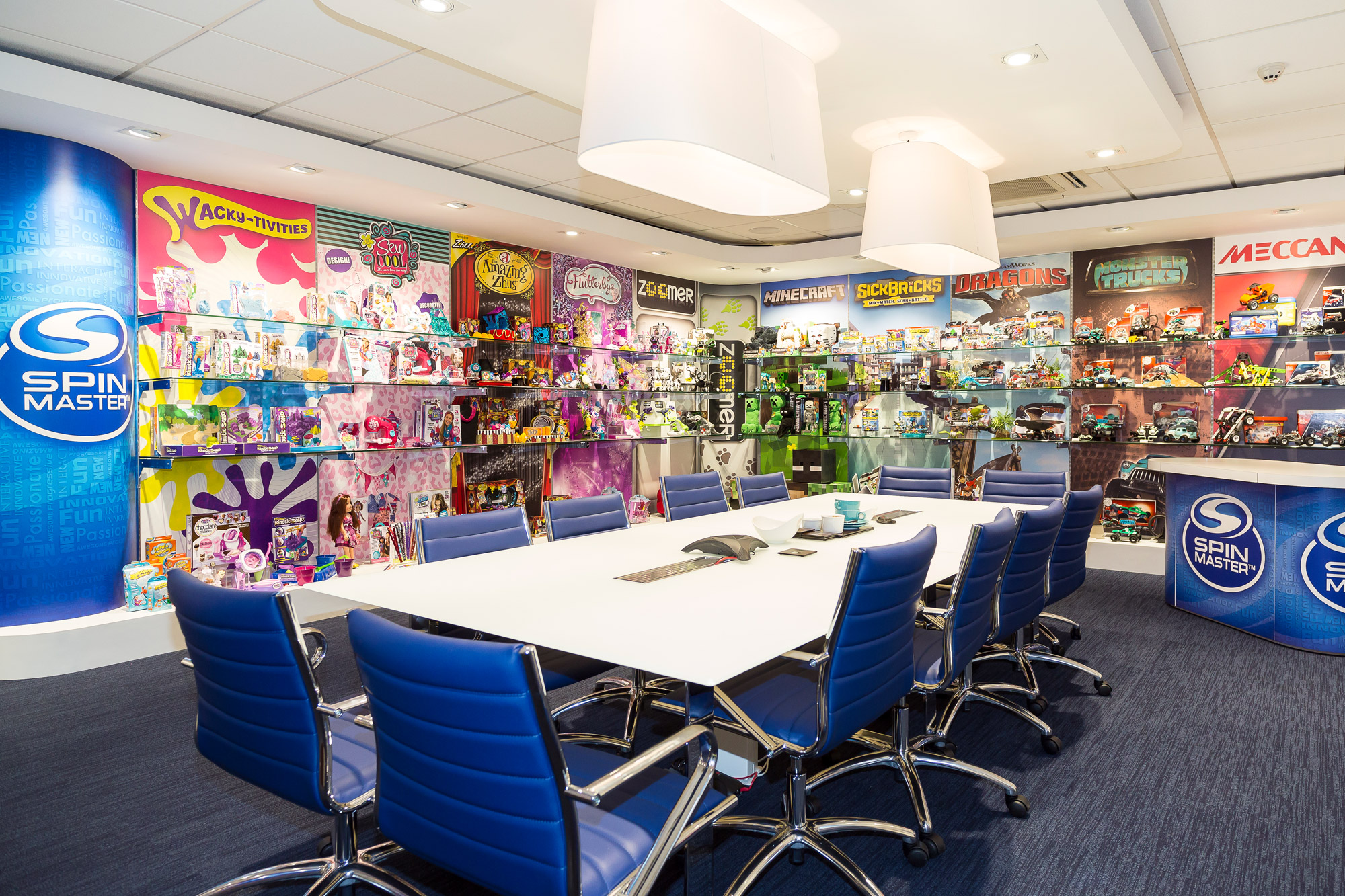 Spin Master UK showroom design