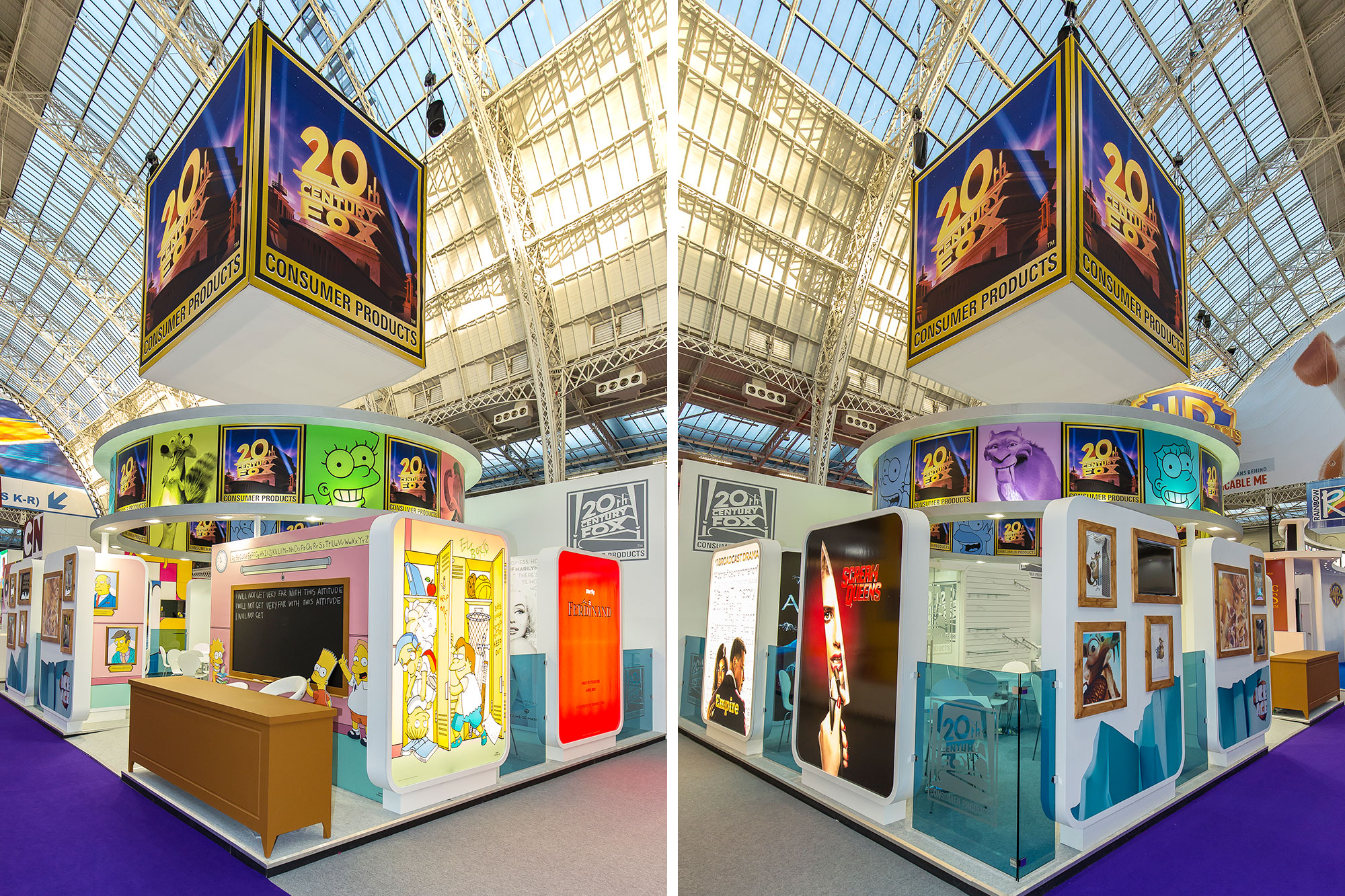 Exhibition design for 20th Century Fox