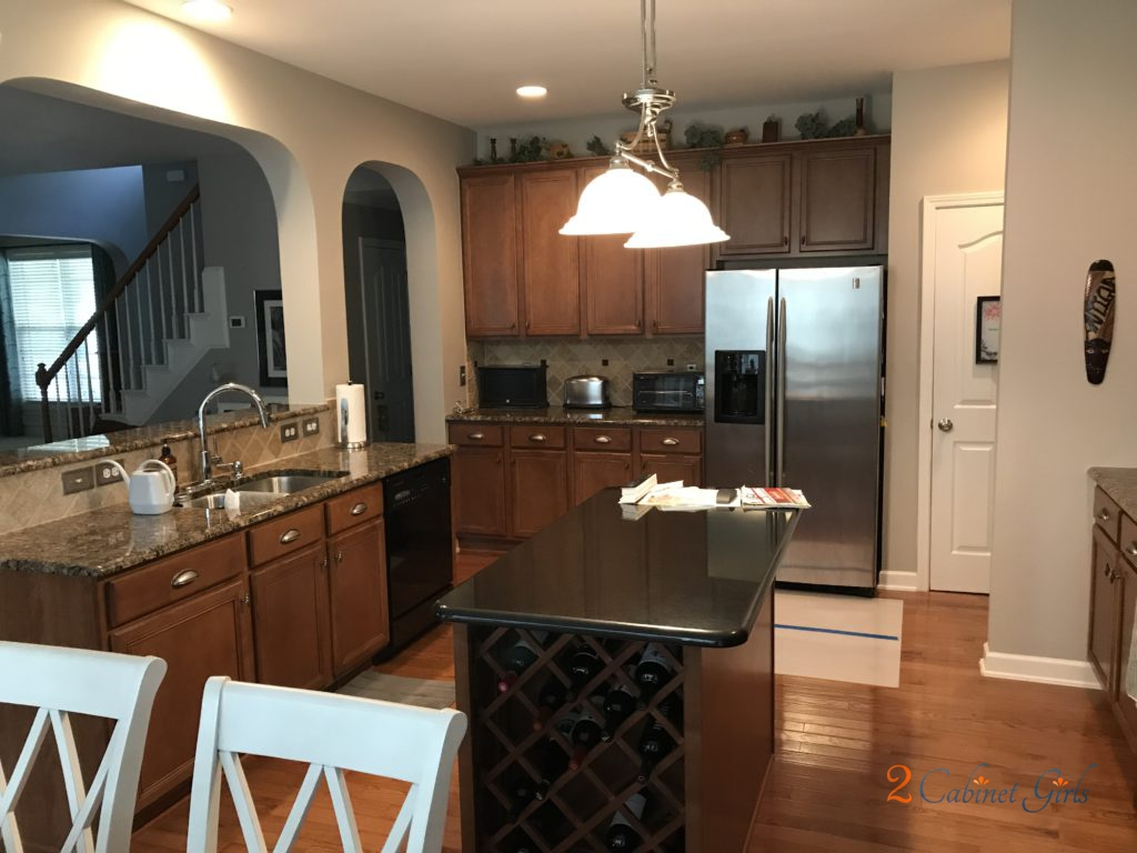 Shell Tint Kitchen Cabinets With Pewter Glaze In Ashworth