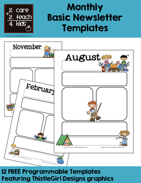 The job market is also on your side. Newsletters Free Printable Templates 2care2teach4kids Com