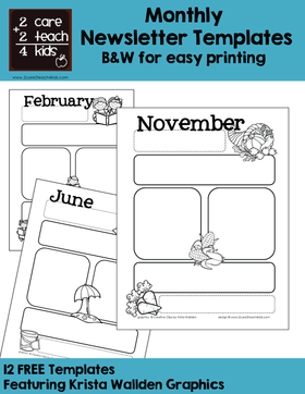 Check out our editable newsletter template. Newsletters Free Printable Templates 2care2teach4kids Com