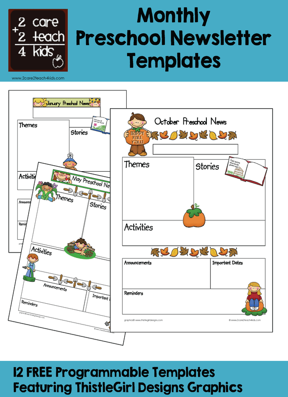 Newsletters are a great way to share important information and increase customer interaction. Newsletters Free Printable Templates 2care2teach4kids Com