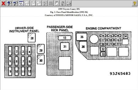 1995 toyota camry fuse box toyota camry fuse box diagram wiring rh parsplus co 2007 Camry Fuse Box Location 95 camry fuse box diagram