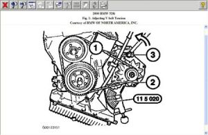 2000 BMW 528 Need Fan Belt Routing for 2000 BMW 528i