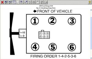 Firing Order: Six Cylinder Two Wheel Drive Automatic Firing Order