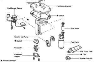 1997 Toyota 4Runner LOCATION OF FUEL PUMP: WHERE IS THE