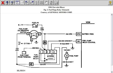 Wiring Diagram 1988 Chevy S10 Fuel Pump