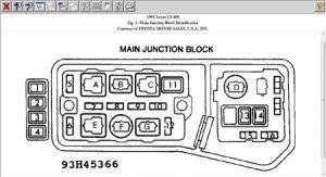 1992 Lexus LS 400 NEED a LEXUS LS400 FUSE BOX DIAGRAM WITH