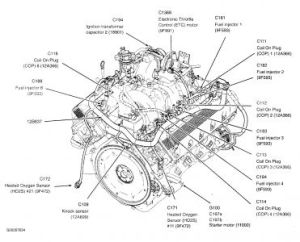 2004 Ford F150 Location of the Temperature Sender