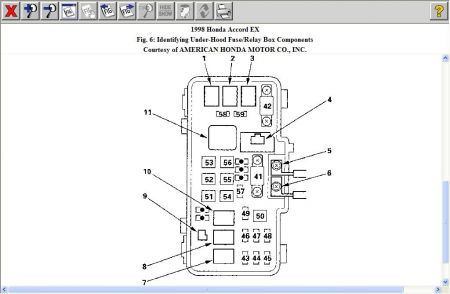 2000 honda accord ignition fuse location  schematic wiring