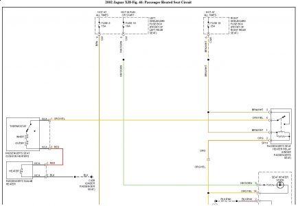2002 jaguar xj8 seat heater wiring diagram problem