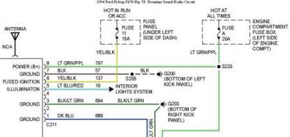 1994 ford ranger radio wiring diagram wiring diagram ford ranger radio wiring diagram