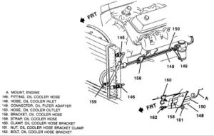 1996 Chevy Tahoe Engine Oil Cooler Lines  Orientation
