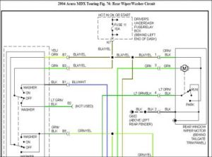 2004 Acura MDX Wiper System Problem: 2004 Acura MDX My Rear Wiper