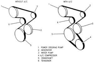 1994 Chevy Corsica Diagram for Serpentine Belt: Engine