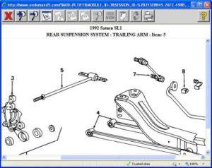 1992 Saturn SL1 Rear End Suspension: Suspension Problem 1992