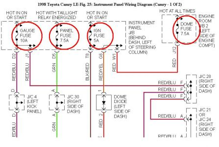 1998 Toyota Camry Wiring Diagram 1998 Automotive Wiring Diagrams – Toyota Camry Wiring Diagram