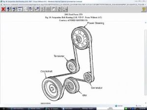 Diagram: I Need a Diagram to Put the Serpentine Belt Back on My