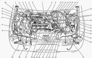 Diagram of 1999 ford escort engine