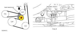 2004 Nissan Altima ALTERNATOR REMOVAL: HOW DO I REMOVE BELT SO I