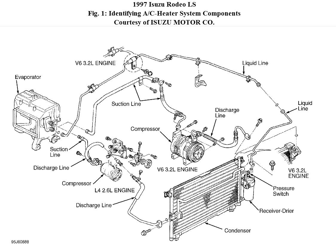 Rodeo Air Conditioning Diagram On Isuzu Rodeo Condenser