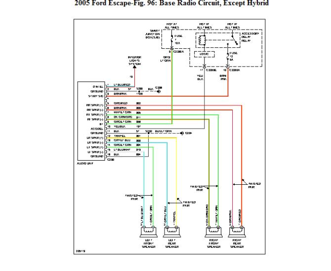2002 ford escape radio wiring diagram  center wiring