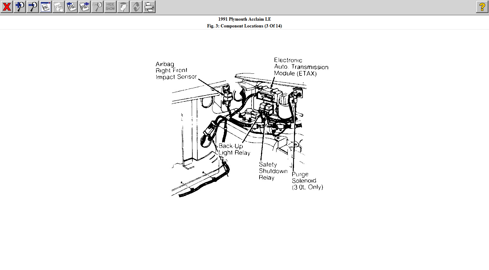 Plymouth Acclaim Engine Diagram