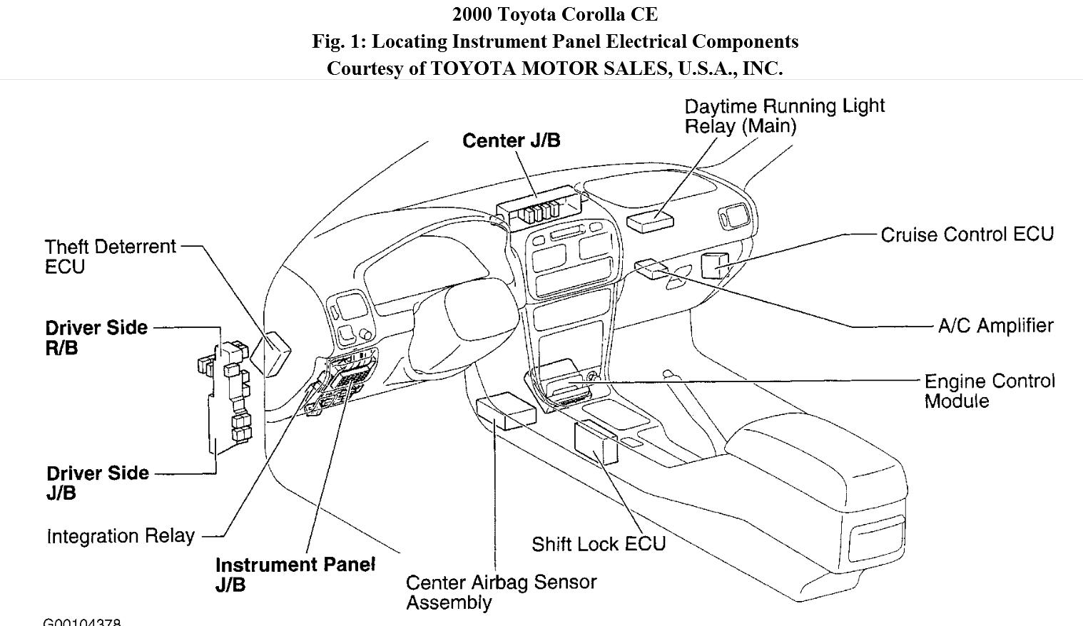 Lexus Fuel Pump Diagram