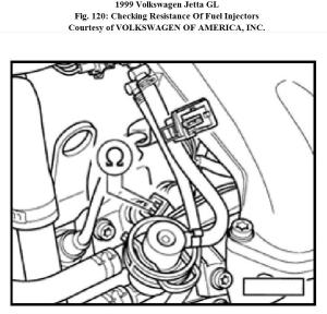 Engine Not Running: 1 1999 Jetta (gas) No Signal to Injectors