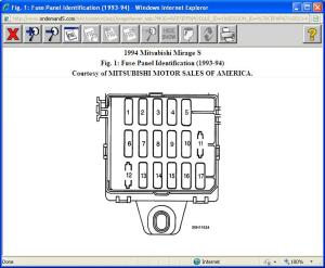 94 Mit Mirage Inside Fuse Box Diagram: Just Purchased Car
