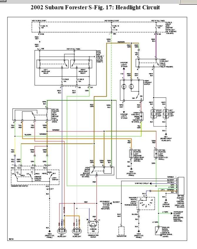 subaru forester 03 headlight wiring diagram 2005 dodge ram