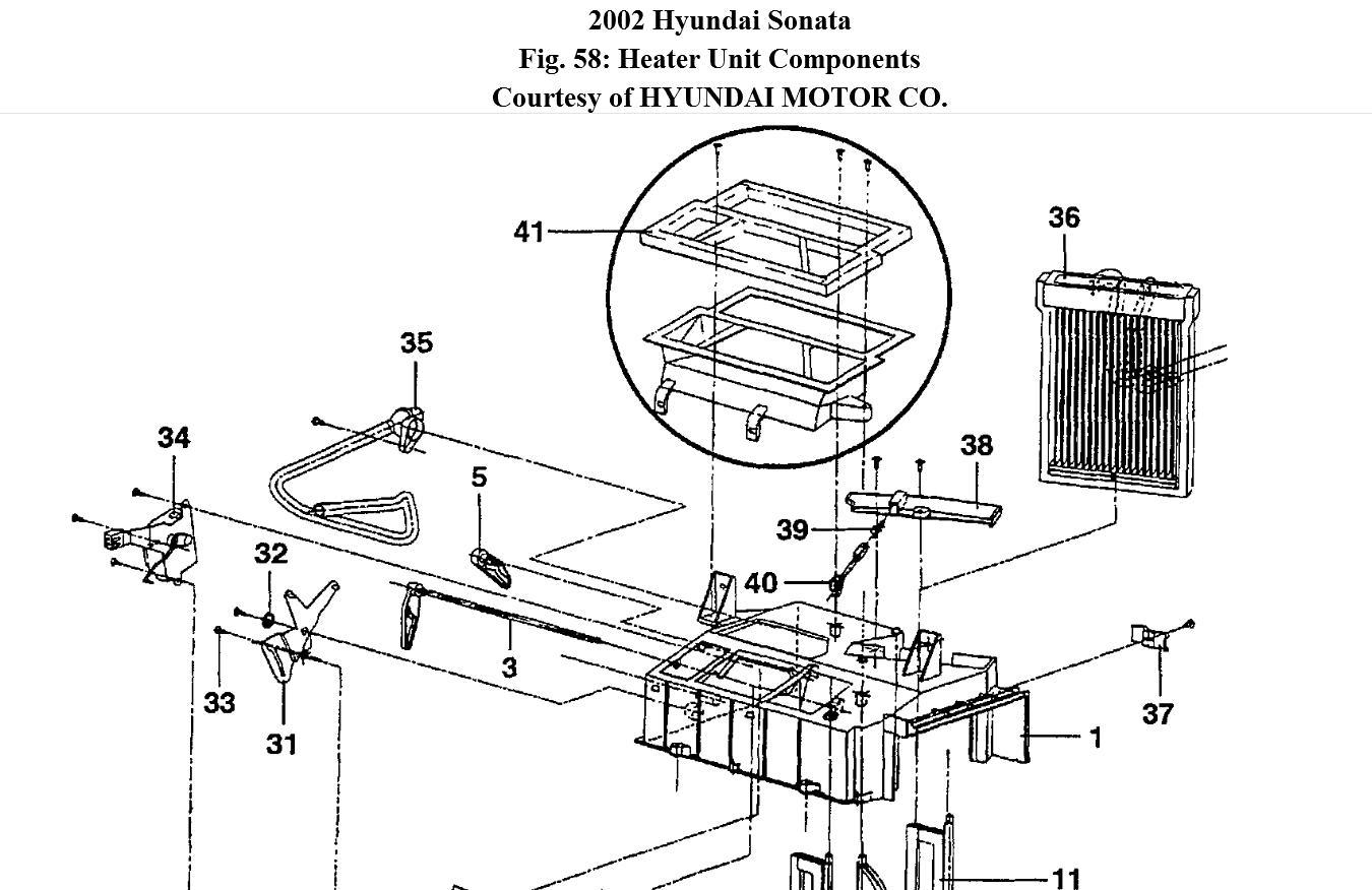 Sonata Heater Core Diagram