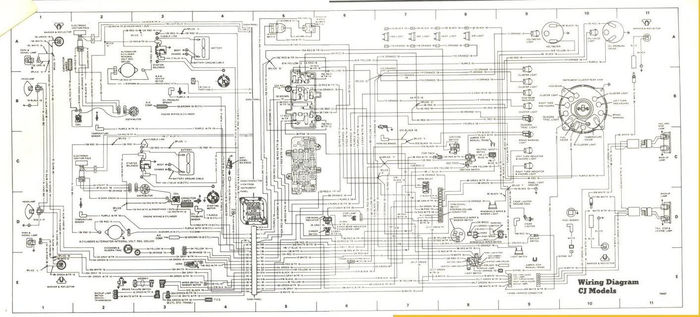 86 Jeep Cj7 Wiring Schematic For Engine - Wiring Diagram ...