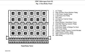 1996 Volkswagen Jetta Relay Box Diagram: I Need a Picture