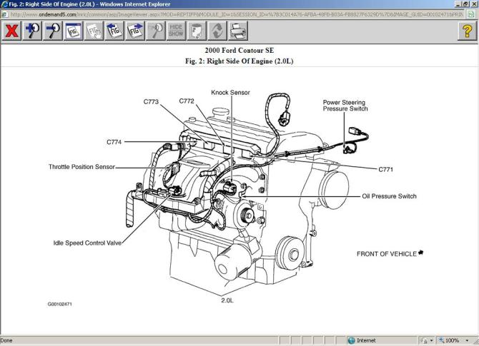 ford contour 2 0 engine diagram  center wiring diagram