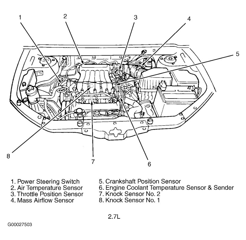 Knock Sensor Location 2001 Hyundai