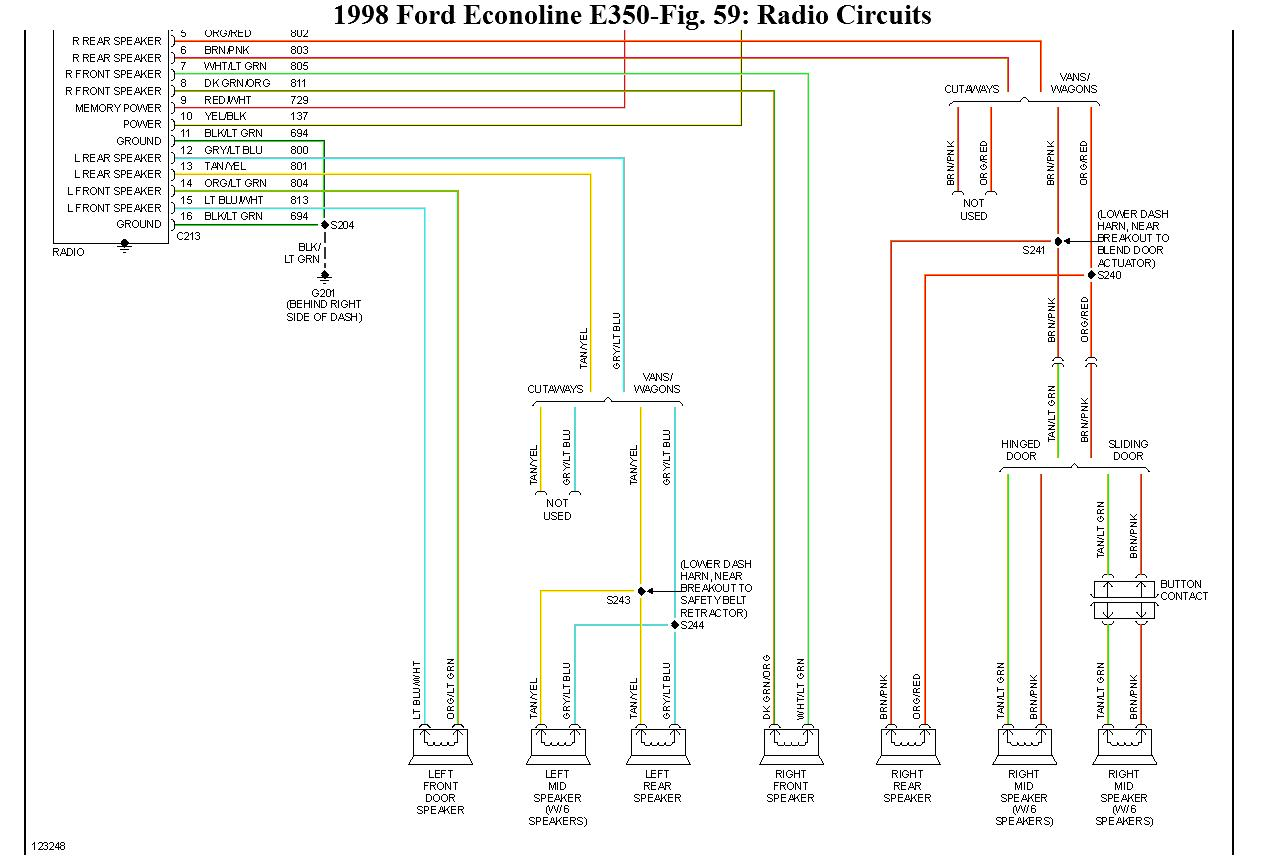 2008 ford econoline 350 radio wiring diagram econoline free printable wiring diagrams