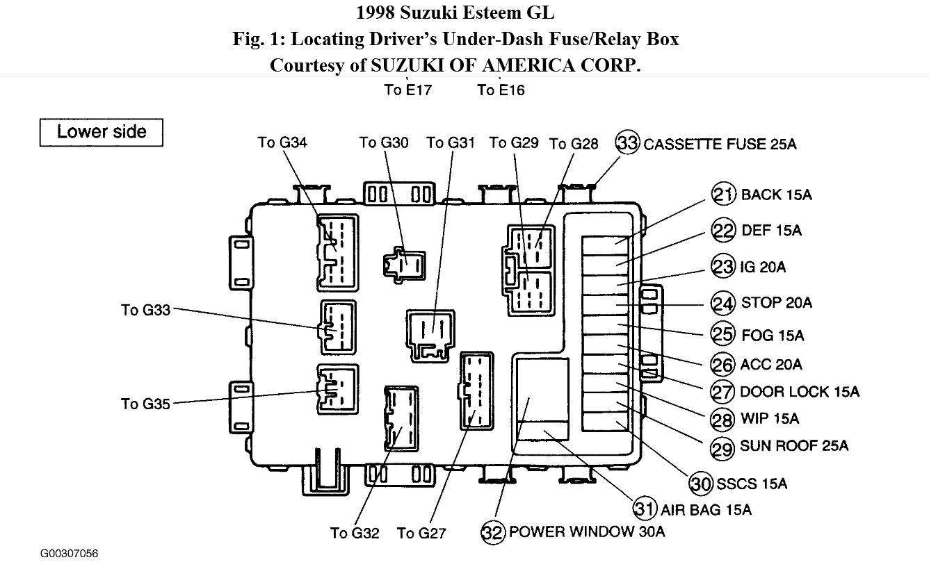 [WRG6653] Suzuki Escudo Fuse Box