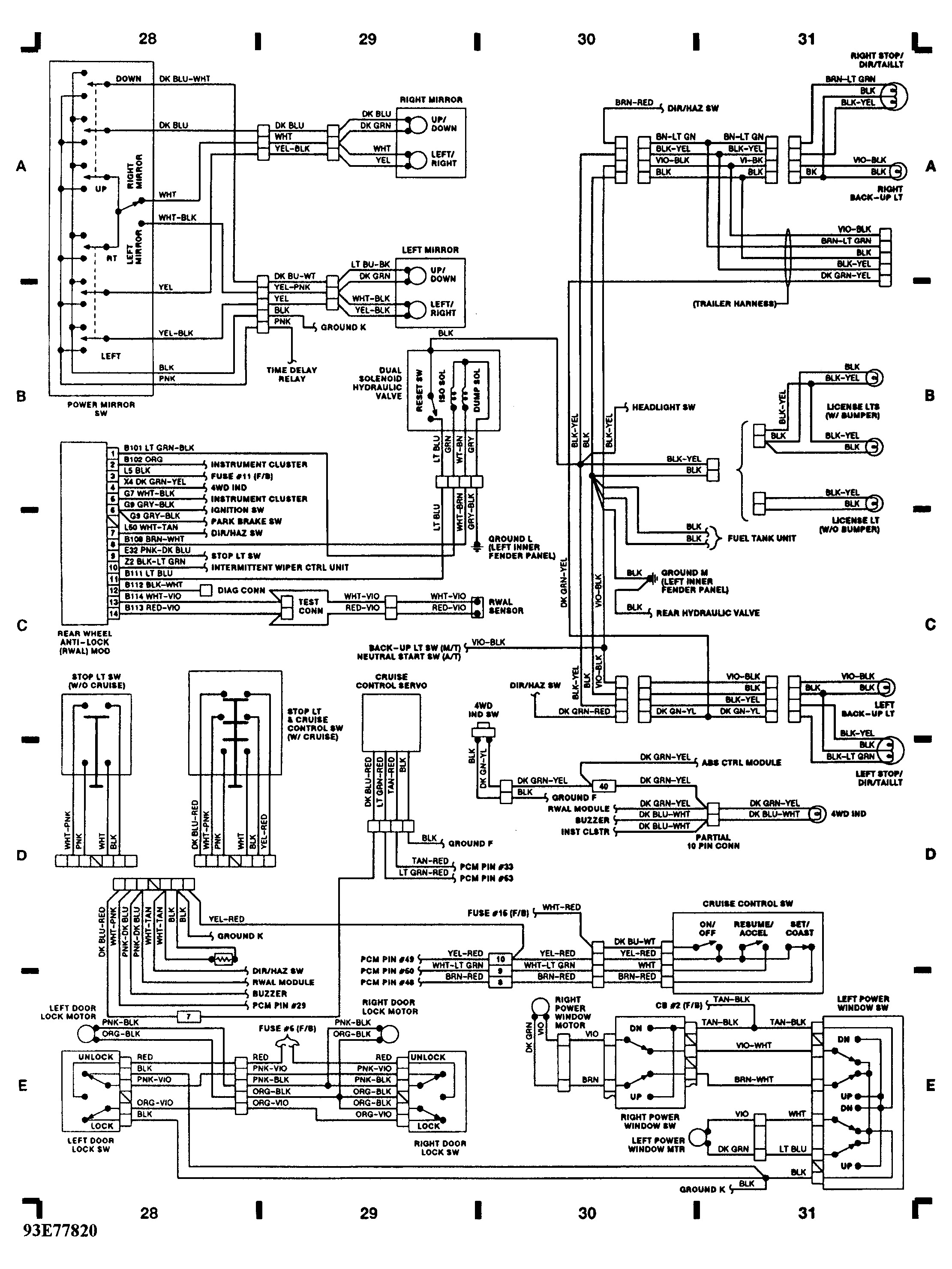 Exterior Lights Wiring Diagram 91 Toyota P U