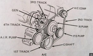 1984 Chevrolet Van Drivebelt Diagram, W 3 Drivebelts